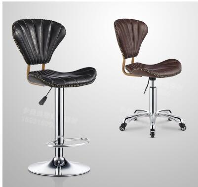New Work Stool Master Stool Beauty Chair Hairdressing  Chair Back Stool Personalized Bar Stool.