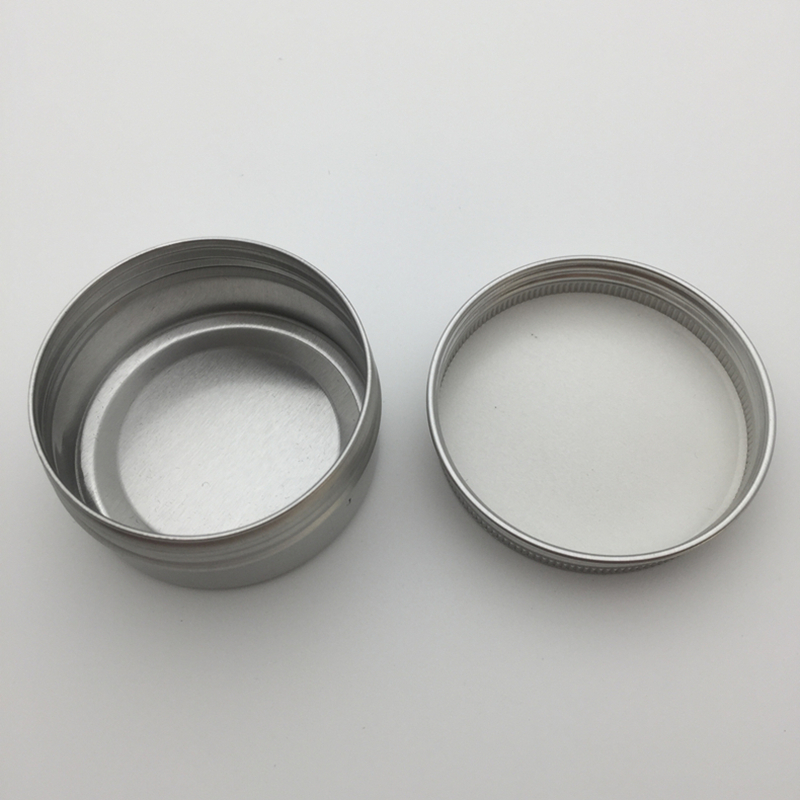 Free shipping 100pcs/lot 50g aluminium cream jars with screw lid,cosmetic case jar,aluminum tins, aluminum lip balm container-in Refillable Bottles from Beauty & Health    3