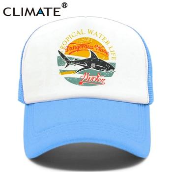 El mar camionero gorras sombrero nuevo tiburón de los hombres y las mujeres  tapas fresco Hip Hop verano colorido de malla gorra de béisbol sombrero para  ... 748c4fa597a