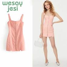 Dress Women 2019 fashion Elegant Camisole Stylish Sexy square-neck mini sexy sweet summer vestidos