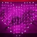 2x1.6m Heart Shape LED String Fairy Lights 34 Hearts Holiday Christmas Lights Outdoor Wedding Decoracao Curtain Lights EU/US/UK