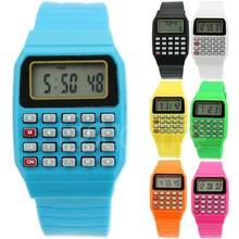 Children font b Electronic b font Calculator Silicone Date Multi Purpose Keypad Wrist Watch New Drop