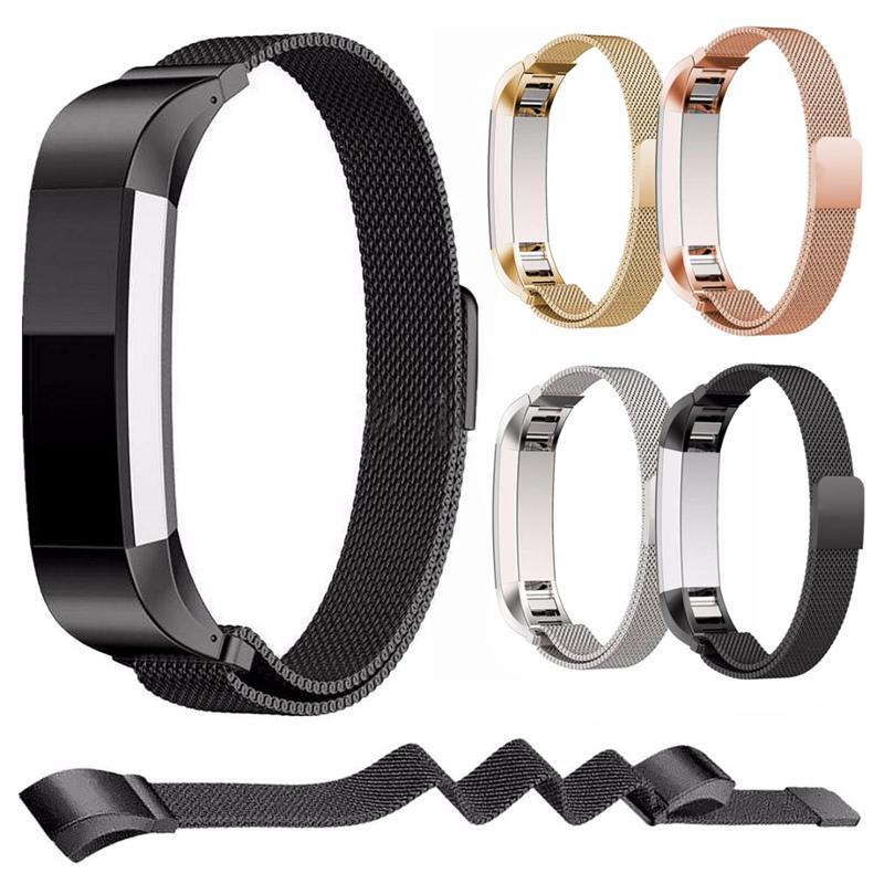 Prix pour Haute Qualité En Acier Inoxydable De Montre De Remplacement Bracelet Bracelet Band pour Fitbit Alta Bracelet Ceinture Accessoire Noir/Or/Argent