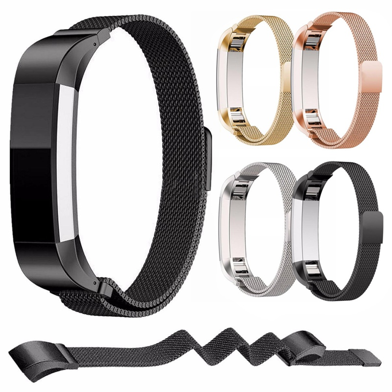 High Quality Stainless Steel Replacement Watch Wristband Strap Band for Fitbit Alta Bracelet Belt Accessory Black /Gold / Silver carlywet 23mm black 316l stainless steel replacement watch strap belt bracelet with case metal frame for fitbit blaze 23 watch