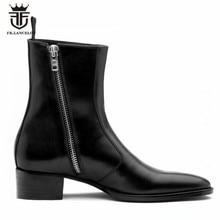 Luxury Brand Genuine Leather High Top Handmade Wedge Harry W