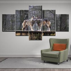 Украшение для дома, холст, настенная живопись, 5 шт., рыба, собака, слон, животные, картины, печатные модульные рамки, плакат, гостиная