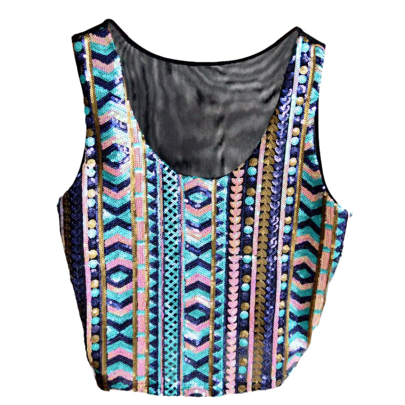 43d82b5bc11936 Lady Summer Vest Casual Colorful Glitter Tank Top T Shirt Camisole Blouse  For Women-in Tank Tops from Women s Clothing on Aliexpress.com