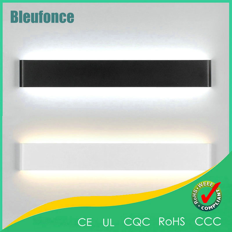 ФОТО 14W 410MM Wall Light LED Aluminum Wall Lamp Modern Minimalist Bedroom Bedside Light Wall Sconce Bathroom Mirror Lights Lighting