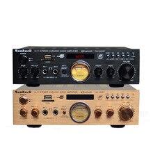 USB SD карты FM радио Bluetooth 300 Вт + 300 Вт 2,0 дистанционный пульт KTV Караоке автомобиля Домашнее аудио цифровой AV усилитель