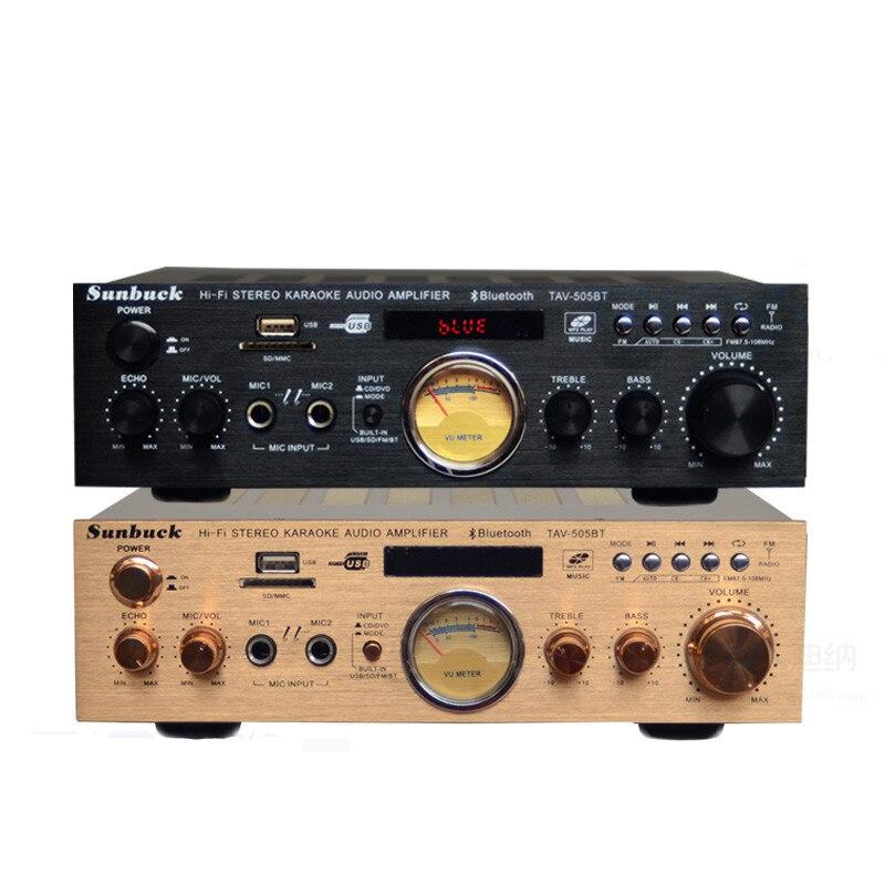 USB SD carte FM radio Bluetooth 300 w + 300 w 2.0 télécommande KTV karaoké maison de voiture audio numérique AV amplificateur