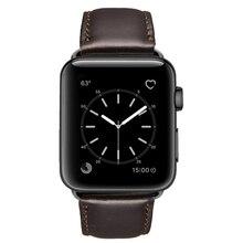 שמן שעוות עור צמיד עבור אפל שעון להקת 42mm 38mm 44mm 40mm סדרת 4 3 2 / Viotoo שעון רצועת עבור iWatch רצועת השעון