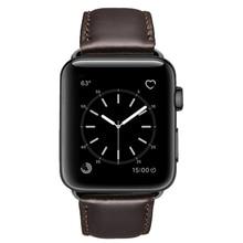 Yağ balmumu deri bilezik Apple saat bandı 42mm 38mm 44mm 40mm serisi 4 3 2 / Viotoo saat kayışı için iWatch Watchband