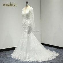 Wuzhiyi Robe De Mariage Longue Applique  ...