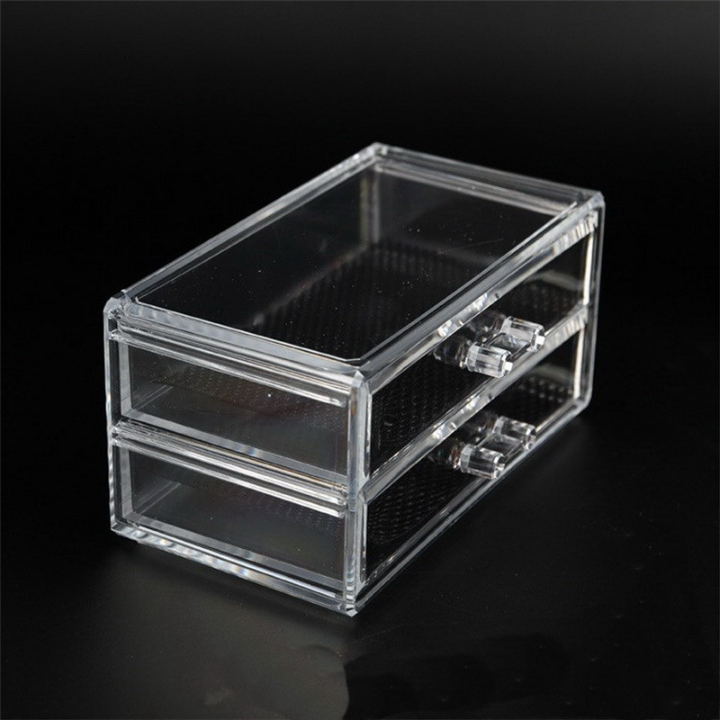 Aliexpress 2 Drawers Case Acrylic Storage Box Makeup Organizer Plastic Cosmetic Bins From Reliable Suppliers On Hi2deals