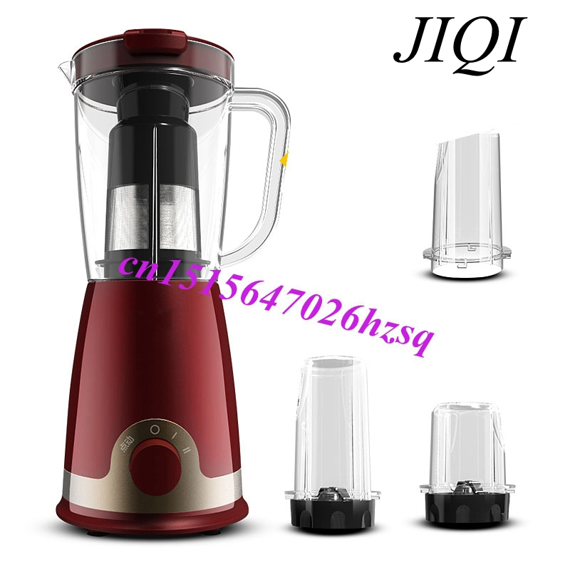 JIQI Multifunctional Fruit blender automatic Food Blender Mixer Extractor Juicer Fruits glantop 2l smoothie blender fruit juice mixer juicer high performance pro commercial glthsg2029