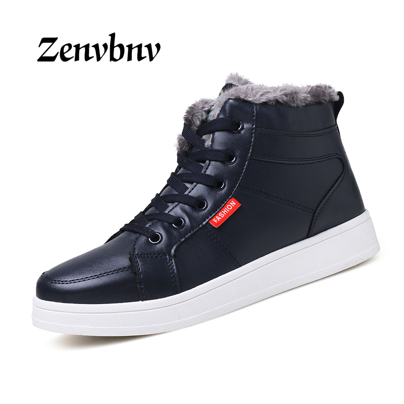 ZENVBNV New 2017 Men Shoes Casual Autumn Winter Warm Casual Shoes Men Flats Shoes Winter Fur Boots For Men Zapatos Hombre 44size