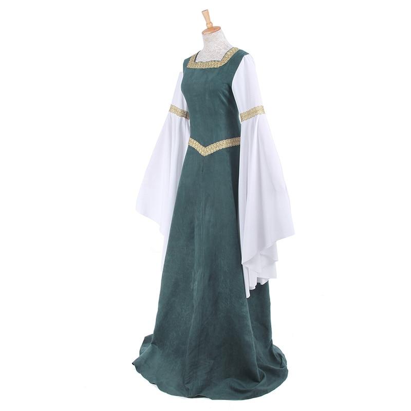 ROLECOS Mujeres Vestidos Retro Europeos Ropa Renacentista Medieval - Disfraces - foto 4