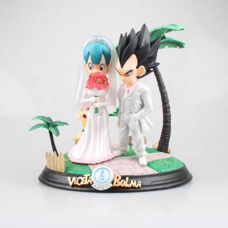 Dragon Ball Buruma&Torankusu 22cm action anime figure Wedding dress version  Vegeta model figures with box toy gift F7007 Dragon Ball Buruma&Torankusu 22cm action anime figure Wedding dress version  Vegeta model figures with box toy gift F7007