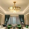 Светодиодный Светодиодный светильник e14 с железным кристаллом, Золотой светодиодный светильник. подвесные светильники. Подвесная лампа. по...
