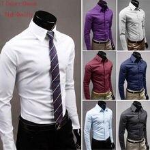94862dcbc5 Camisas de negocios formales elegantes ajustadas informales de lujo para  hombre