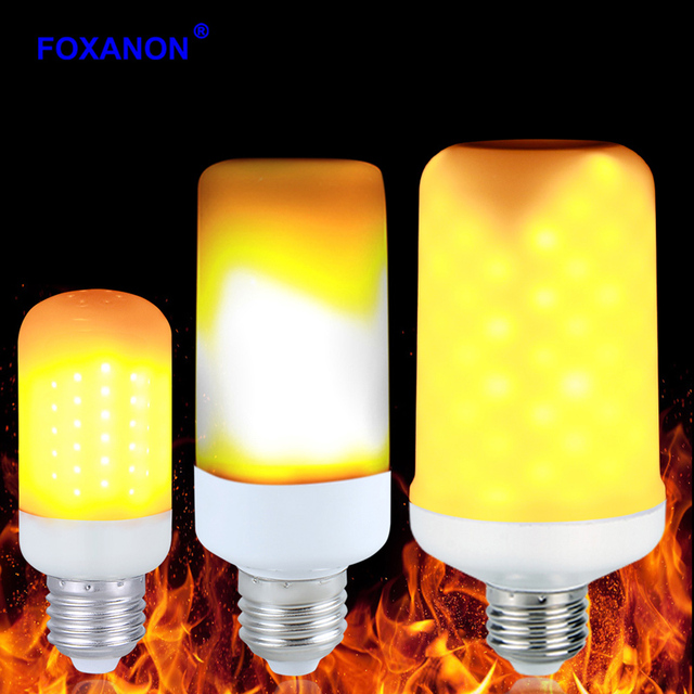Led Flame Effect.Us 7 89 40 Off Foxanon Led Flame Effect Fire Light Bulbs E27 2835smd 3 Modes Creative Flickering Emulation Vintage Atmosphere Decorative Lamp In Led