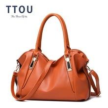 TTOU Designer Women Handbag Female PU Leather Bags Handbags Ladies Portable Shoulder Bag Office Ladies Hobos Bag Totes недорого