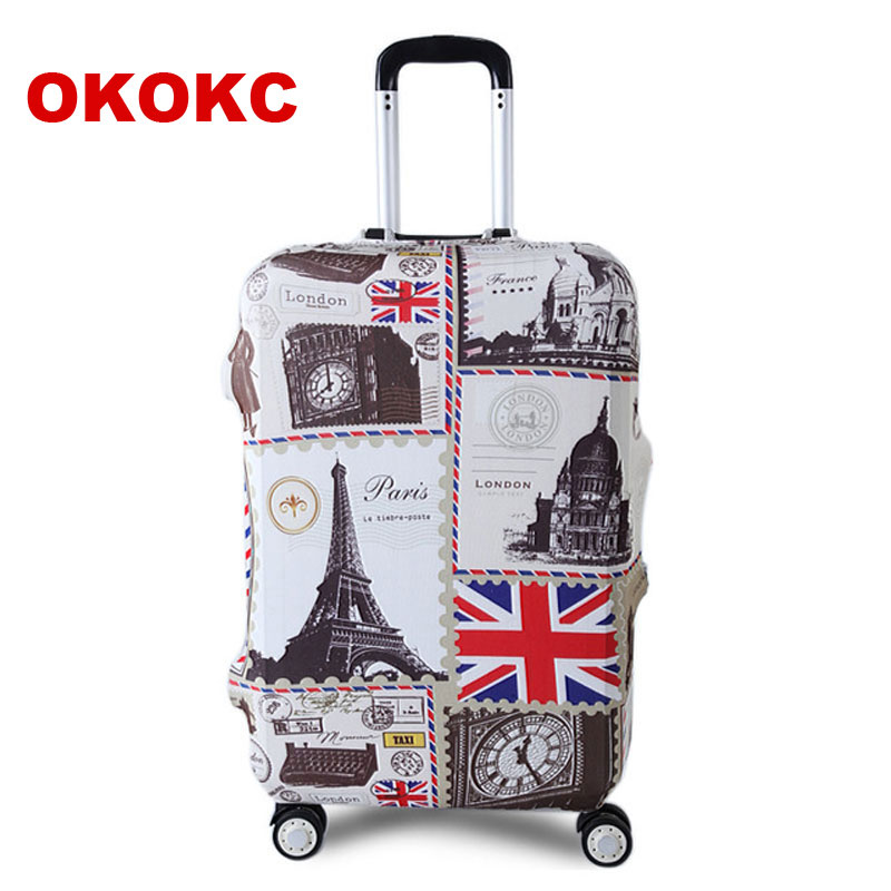 OKOKC Tower Travel Luggage Suitcase Protective Cover for Trunk Case Apply to 19''-32'' Suitcase Cover Elastic Perfectly