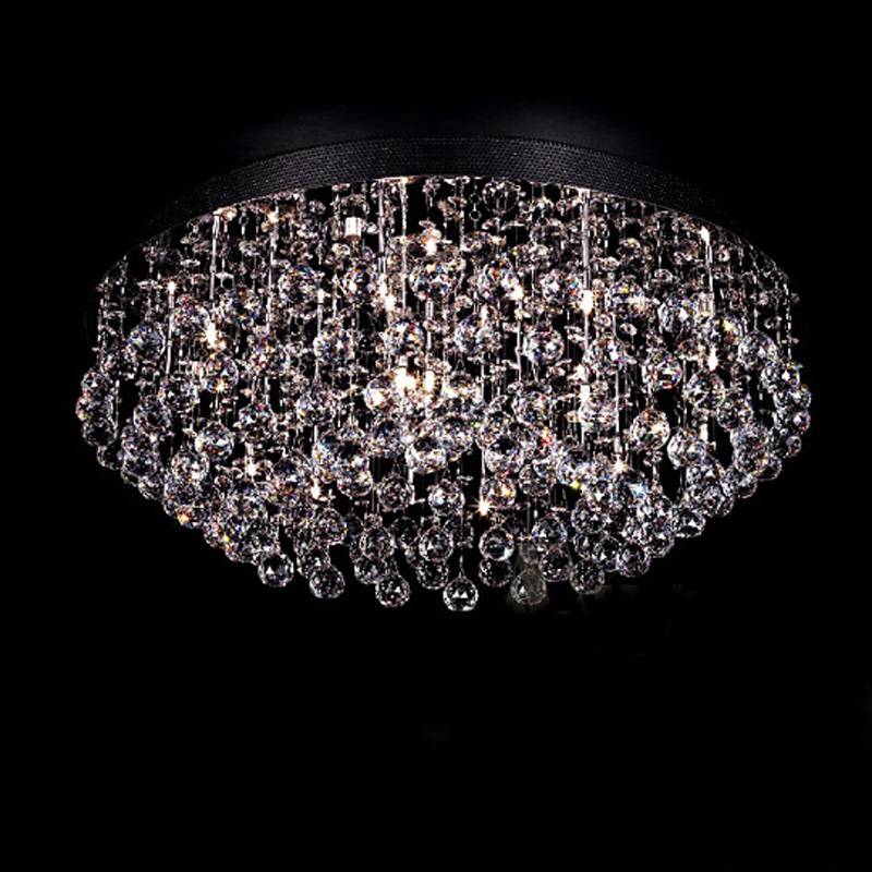 Luxury Simple Circular Crystal Ceiling Light Fashion Modern Lamps For Bedroom Living Room LED Home Lighting Dhl Free