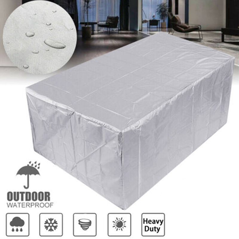210T Waterproof  Furniture Cover Outdoor Garden Covers Rattan Table Chair Dust Proof Patio Protective Case 11 Size For Home Use