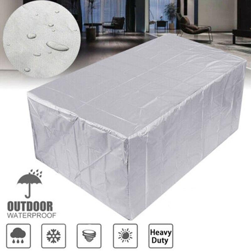 210T cubierta de muebles impermeable cubiertas de jardín al aire libre Silla de mesa de ratán caja protectora de Patio a prueba de polvo 11 tamaños para uso en el hogar