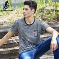 Pioneer Camp Camisa Personalidade Fashion Mens T Camisa Listrada Verão Elástico Respirável Casual Masculino Camisetas Frete Grátis 622074