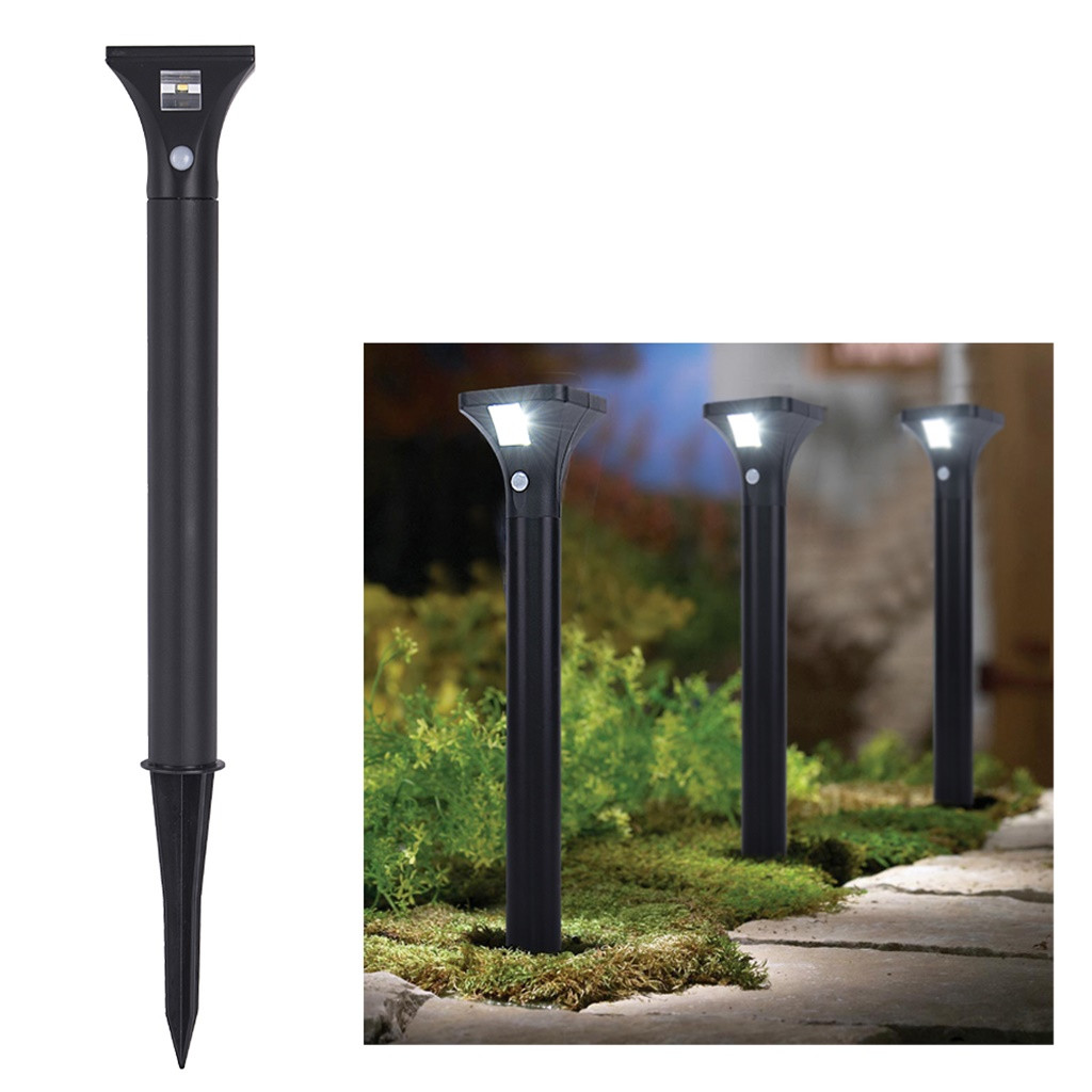 Outdoor Solar Path Light With Motion Sensor Led Pathway Lights Garden Patio Yard Landscape Lighting Stainless Steel Ground Lamp In Solar Lamps From Lights Lighting On Aliexpress