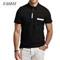 E-BAIHUI marca summer style nueva moda hombre Spots Tenis Polo camisa de Algodón Polo Hombres Camisa Camisa de Los Hombres polo sloid P007