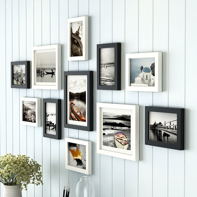 Online Shop 11 Pieces/Set Europe Style Black and White Color Photo ...