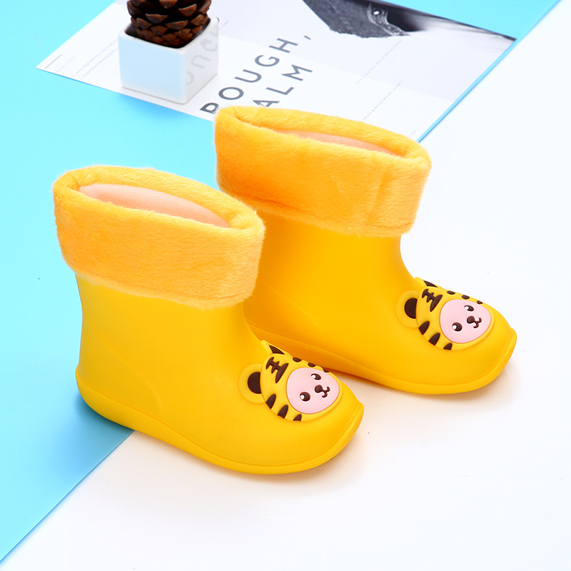Rain Boots Kids for Boys Girls Rain Boots Waterproof Baby Non-slip Rubber Water Shoes Children Rainboots four Seasons Removable