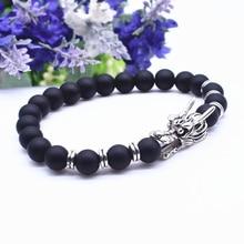 Elastic Rope Natural Stone Beads Dragon Ball Bracelet