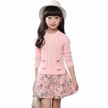 2016 Autumn Winter Christmas Girls Flower Lace Patchwork Clothes Infant Kids Evening Costume Baby Next Party Princess Dresses