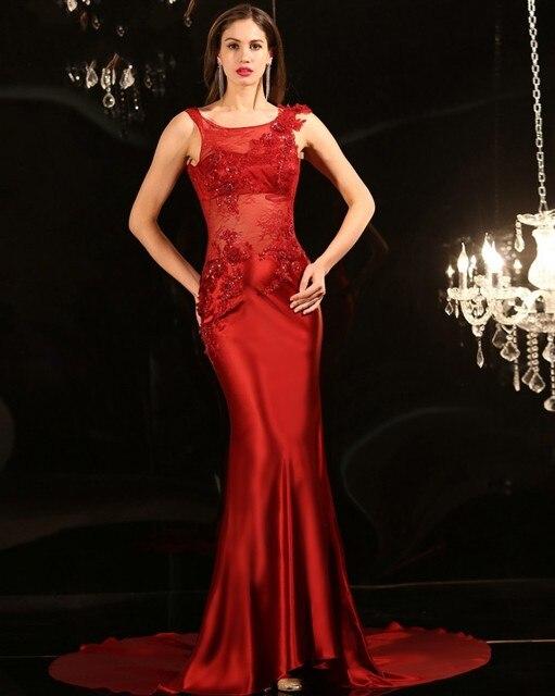 Vestidos de noche largos elegantes rojos