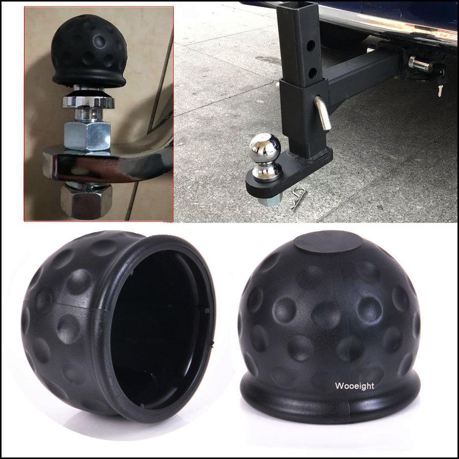 1Pc New Style Universal 50mm Tow Bar Ball Cover Cap Towing Hitch Caravan Black Trailer Towball Protector Cap