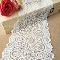 Gratis verzending Hoge kwaliteit elastische kracht kant handgemaakte DIY kleding accessoires 18 CM breed GRL0438