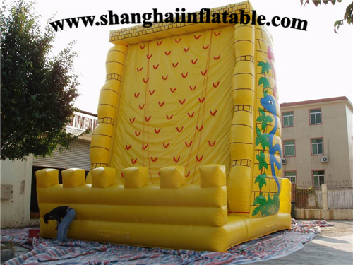 2016 commercial rock inflatable climbing wall hot sale inflatable climbing game inflatable rock climbings
