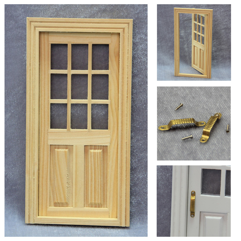 1/12 Scale Dollhouse Miniature Furniture Accessories Mini Doll House Wood Exterior Door with 2pcs & Online Get Cheap Miniature Door Handles -Aliexpress.com | Alibaba ... Pezcame.Com