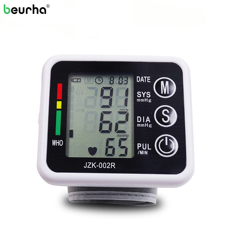 Beurha Household Wrist Type Microcomputer Intelligent Type Electronic Blood Pressure Monitor Black Health Care Household Health high quantity medicine detection type blood and marrow test slides