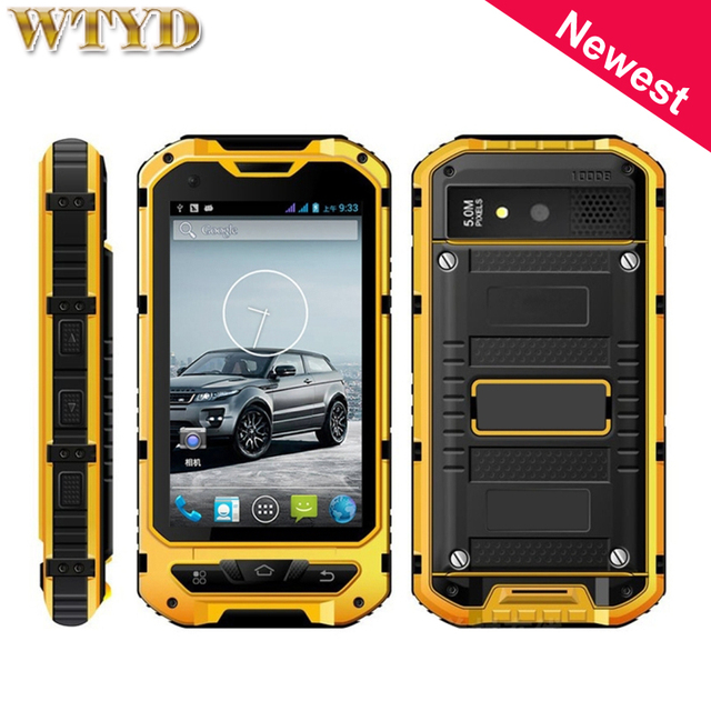A8 8GB+1GB 3G IP68 Waterproof Dustproof Shockproof 4.0'' MTK6582 Quad Core up to 1.2GHz Smartphone support NFC Bluetooth OTG