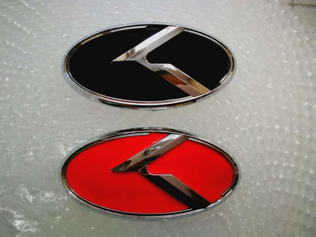 5x New Car K Logo 129x65mm Front Emblem Badge Sticker For Kia K5 Car