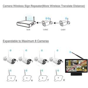 Image 2 - OOSSXX 8CH 1080P Wireless NVR Kit 10 Monitor Senza Fili del CCTV 4pcs 960P Indoor Macchina Fotografica Esterna del IP video Sistema di Sorveglianza