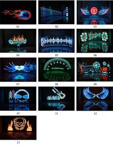 Image 5 - تصفيف السيارة 90*25 40*30 50*30 السيارات LED EL ورقة سيارة الموسيقى ملصق التعادل توهج فلاش مصباح لوح وامض