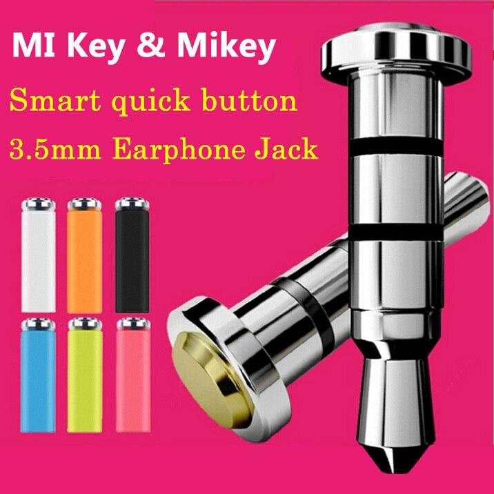 Интернет-магазин Оригинальный Xiaomi майки миль ключ смарт кнопка быстрого один клик вспомогательная кнопка гаджет 3.5 мм разъем для наушников пыли разъем для Xiaomi | AliExpress для мобильных