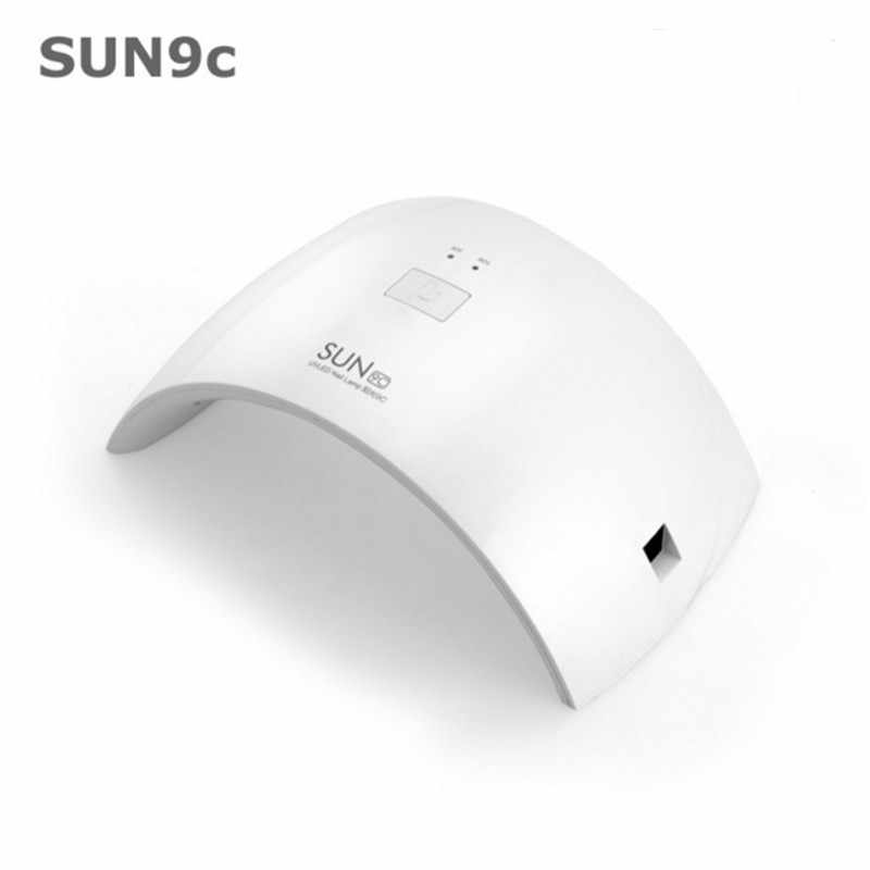 2017 SUN9S/9C White Light LED Nail Dryer Pro Salon Gel Polish Curing 24W LED Lamp Simple Sturdy manicure supplies 365-405nm
