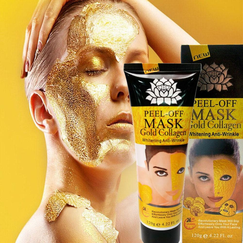 цена на 24K Gold Collagen Peel off Mask Skin Care Face Whitening Lifting Firming Skin Anti Wrinkle Anti Aging Facial Mask Face Care mask